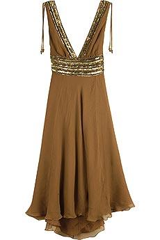 brown grecian dress