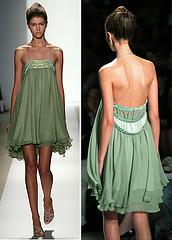 flowy green dress
