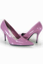 purple patent stilettos