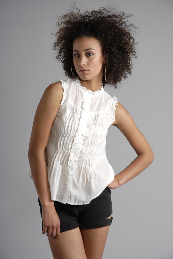 feminine ruffled top