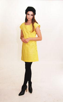 yellow Edie Rose dress