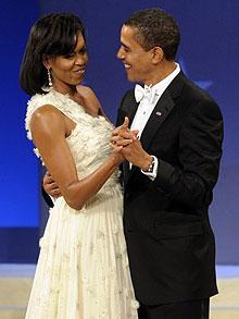 Michelle and Barack Obama Inaugural Ball