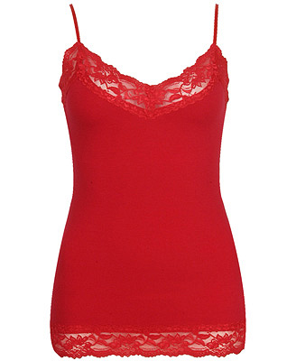 red cami for Valentine's Day