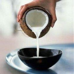 coconut milk for diy straightening cream