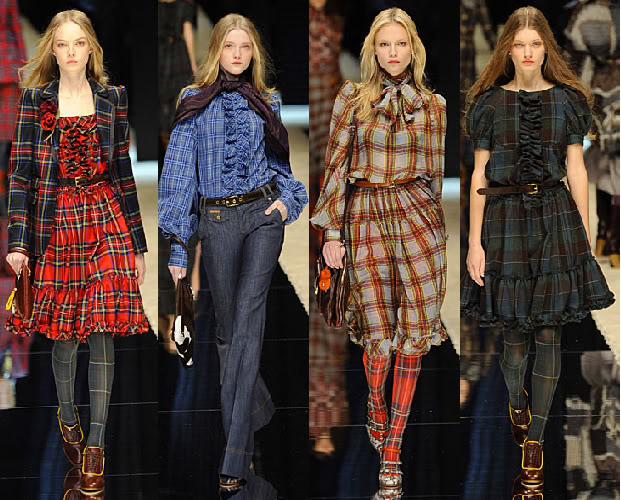 Frilly Plaid Tops and Dresses
