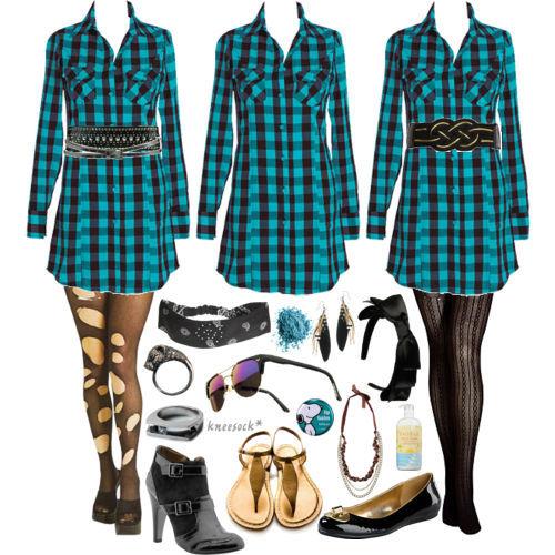 Plaid Dress Ensembles