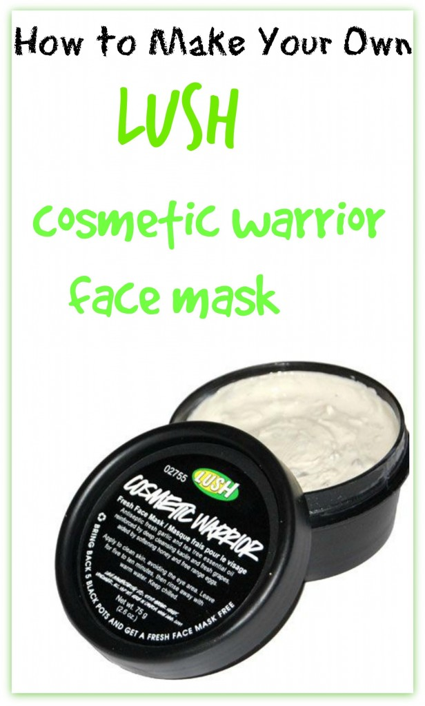 make your own lush cosmetic warrior face mask