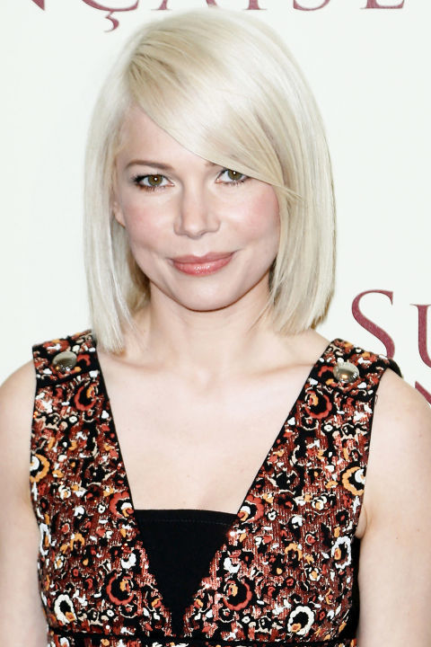 michelle williams side swept bangs summer haircuts