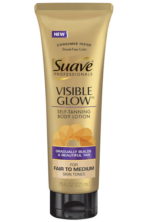 visible glow self tanning body lotion