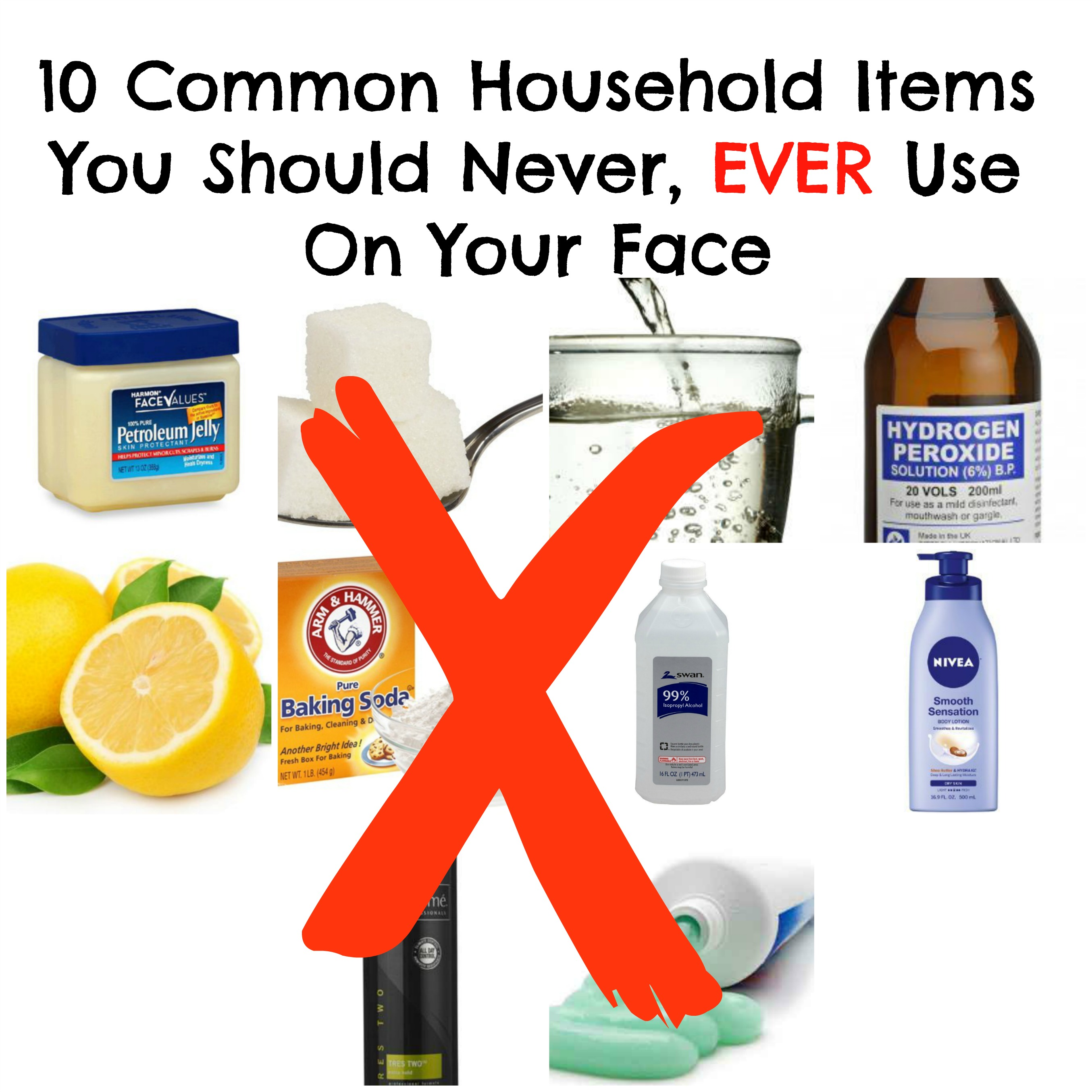 10 common household items you should never use on your face - New uses common items ...