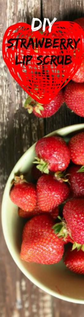 strawberry lip scrub