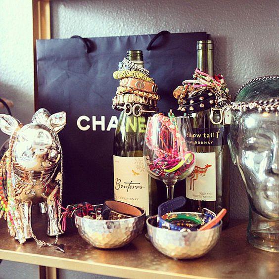 wine bottle jewelry holder
