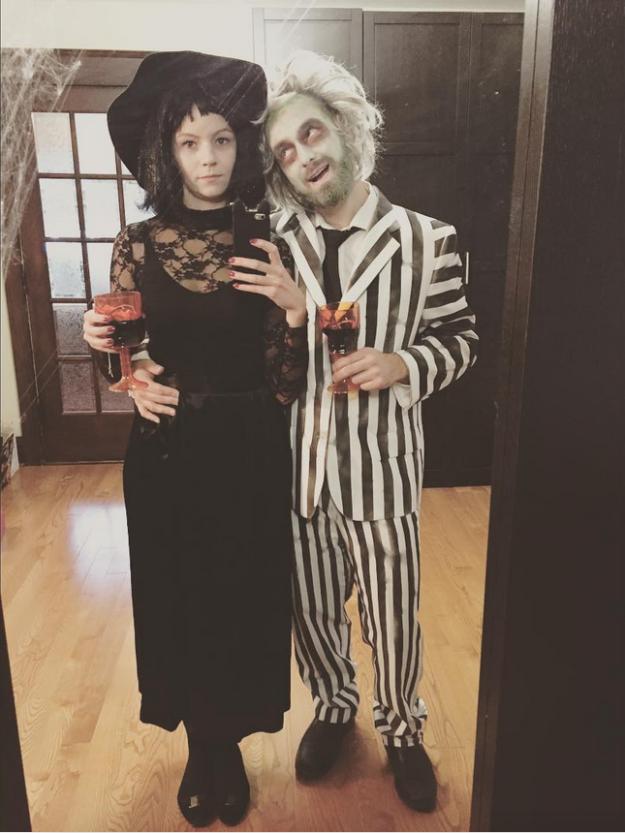 Beetlejuice and Lydia Deetz  sc 1 st  StyleTips101.com & 31 Halloween Costumes For 80s u0026 90s Kids