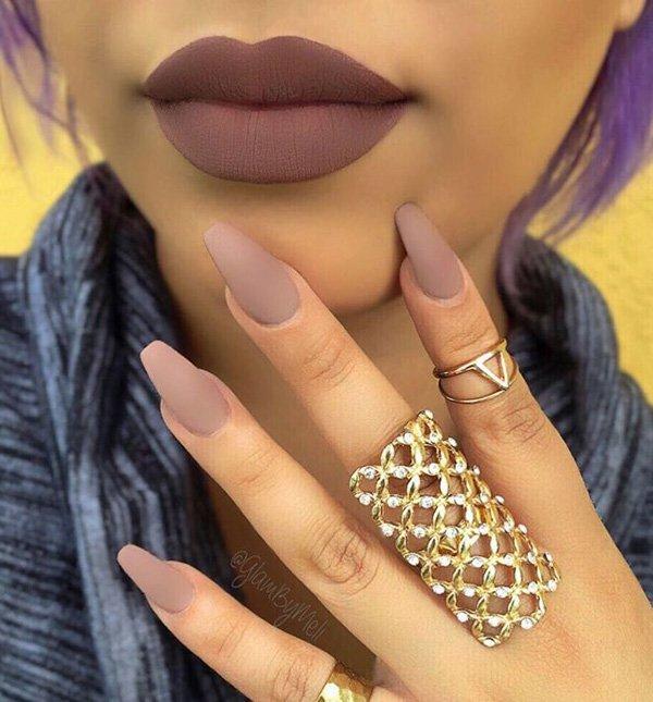 2016 Fall Trend Matte Nails