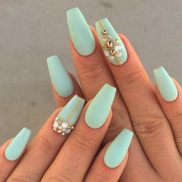 Mint Green Matte Nails