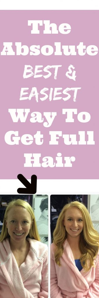 The Absolute BEST And EASIEST Way To Get Full Hair
