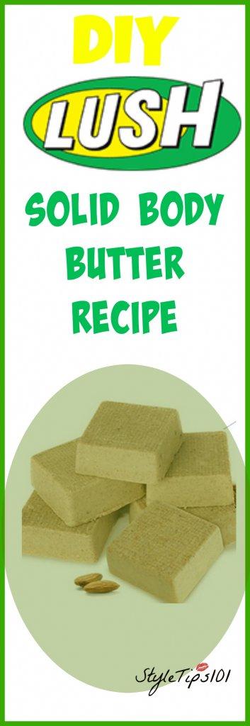 DIY Lush Solid Body Butter