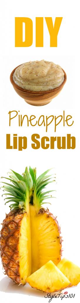 DIY Pineapple Lip Scrub