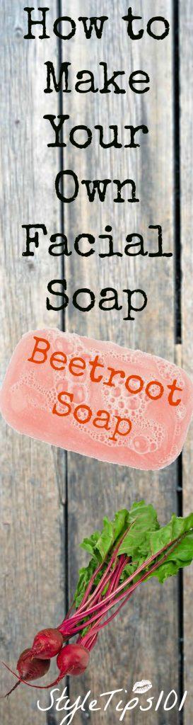 beet root facial soap
