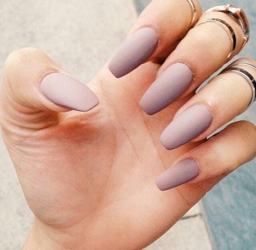 Pastel purple matte nails :D