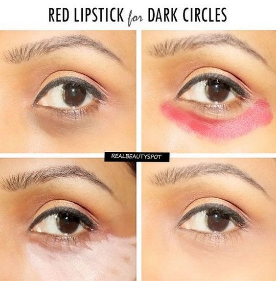 red-lipstick-for-dark-circles