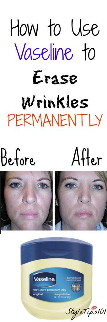 vaseline to get rid of wrinkles