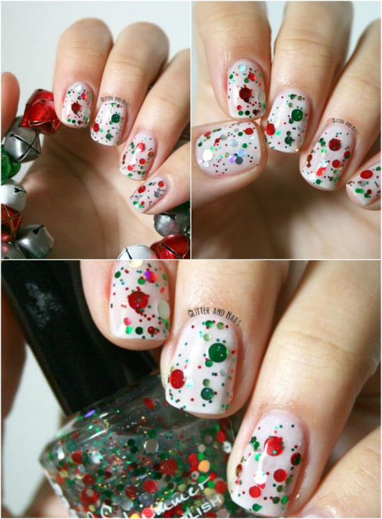 red-and-green-glitter