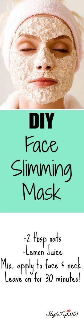 Face slimming face mask diy