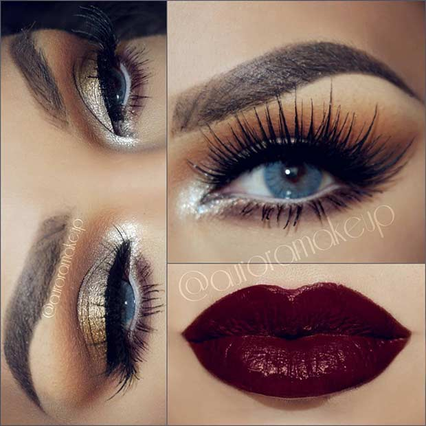 gold-eye-and-red-lips