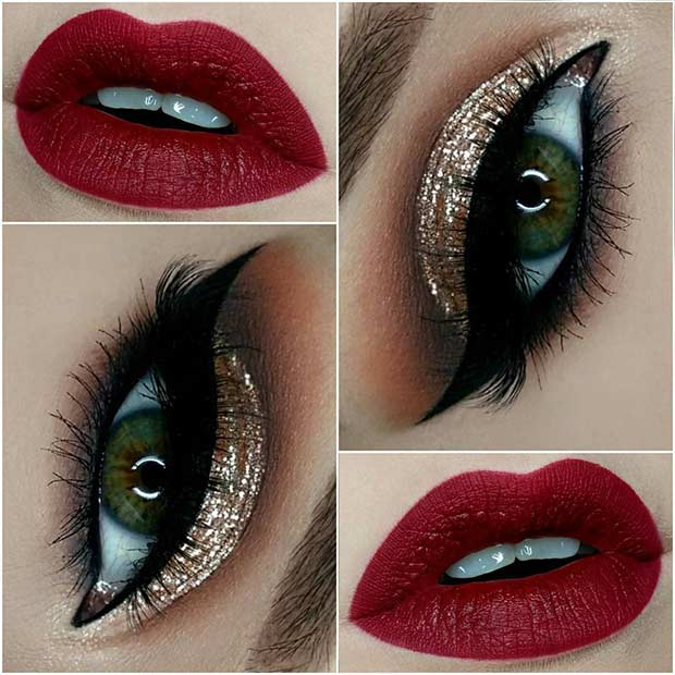 red-lips-and-gold-glitter-eyes