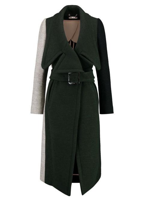 2017 winter coats trends - color block coat
