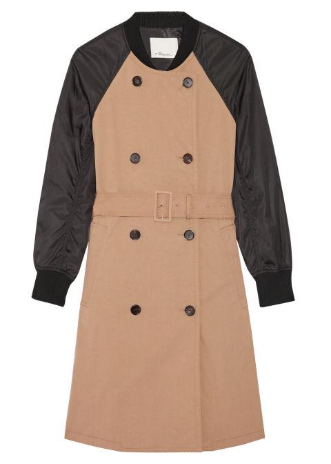 2017 winter coats trends - color block trench coat