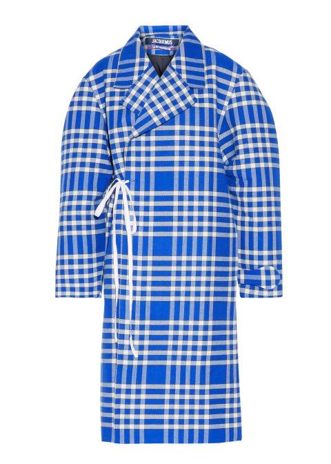 2017 winter coats trends - long plaid coat