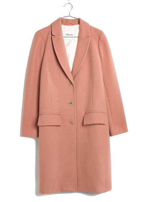 2017 winter coats trends - peach swing coat