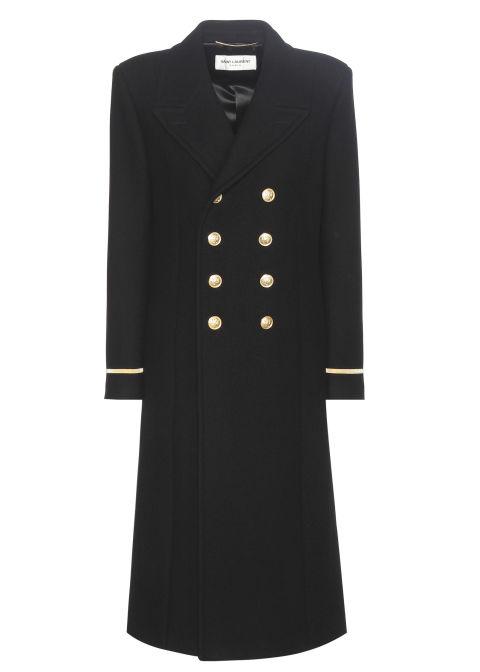 2017 winter coats trends - saint laurent wool coat