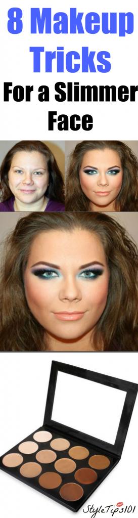 makeup tricks for a slimmer face