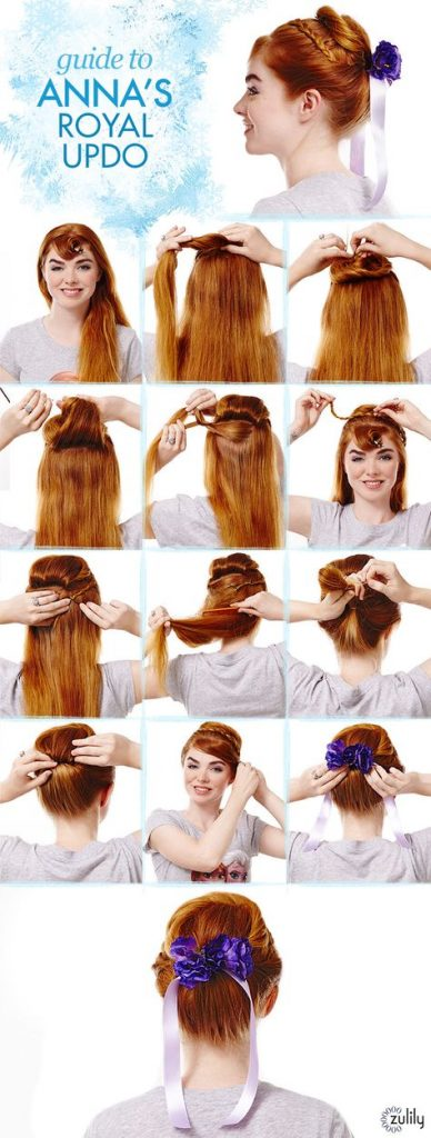 Anna from Frozen hairstyle