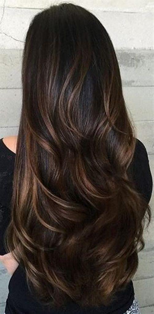 brunette with caramel