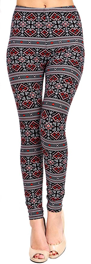 dark tribal print leggings
