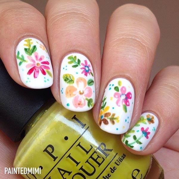 floral nail designs for short nails