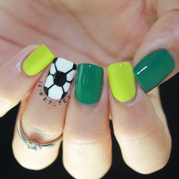football nail designs for short nails