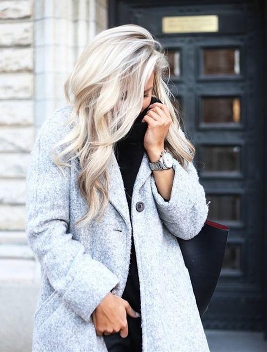 light and bleach blonde