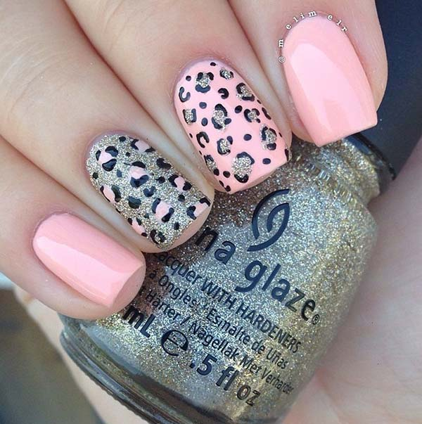 leopard print nail designs for short nails
