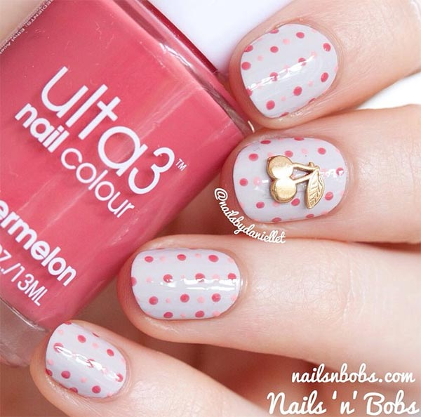 cherry nail designs for short nails