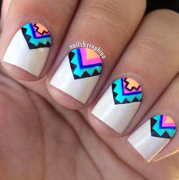 tribal nail designs for short nails