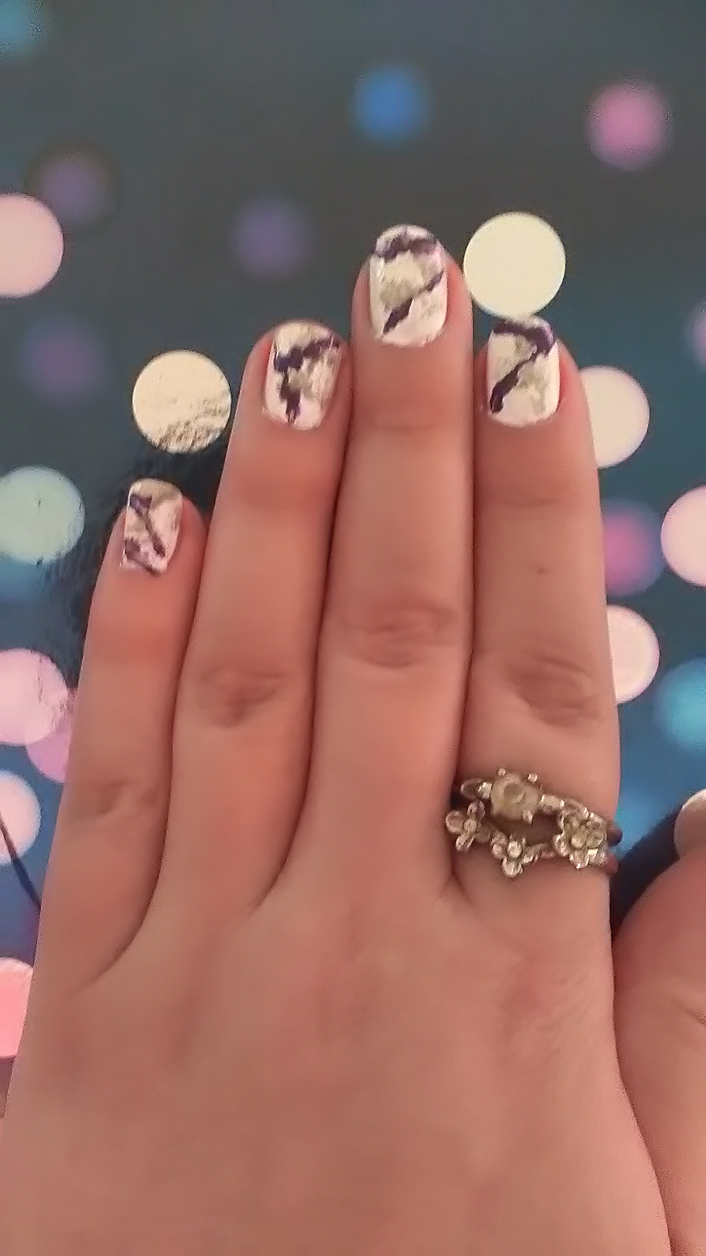 marble nails finished