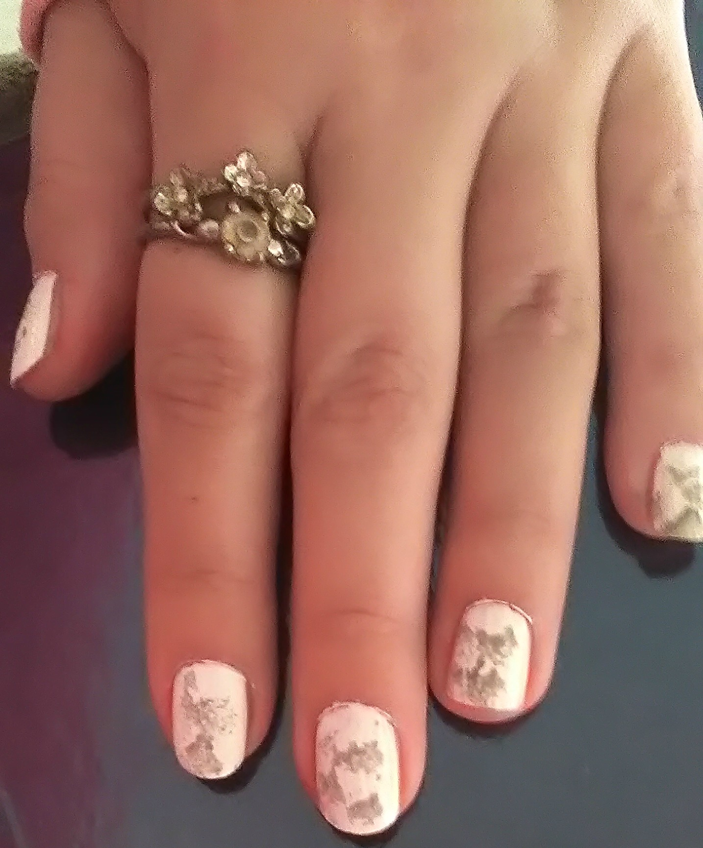 marble nails step 1