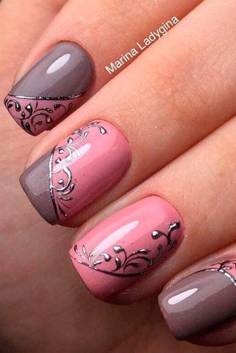mauve and pink nail designs