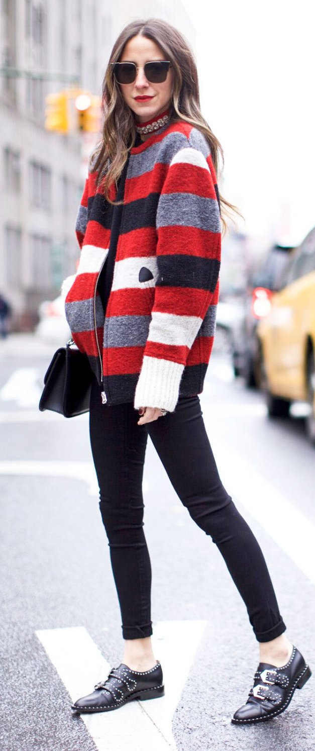 slouchy sweater skinny jeans