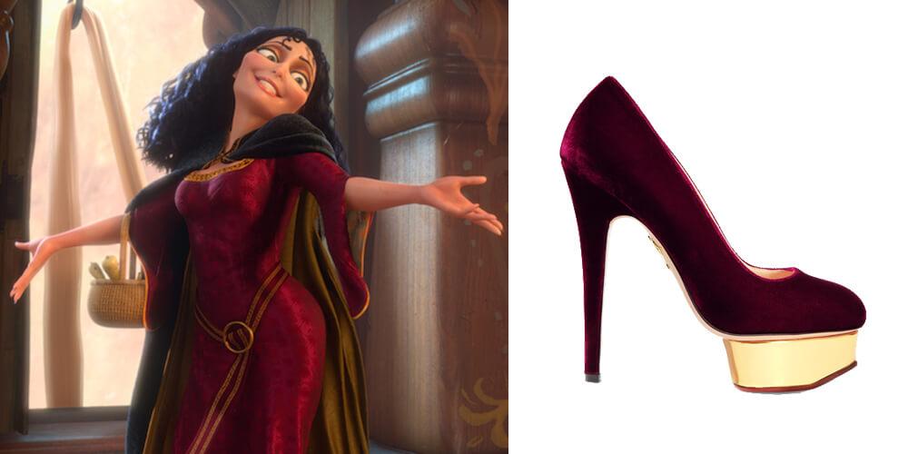 Rapunzel heels by Charlotte Olympia